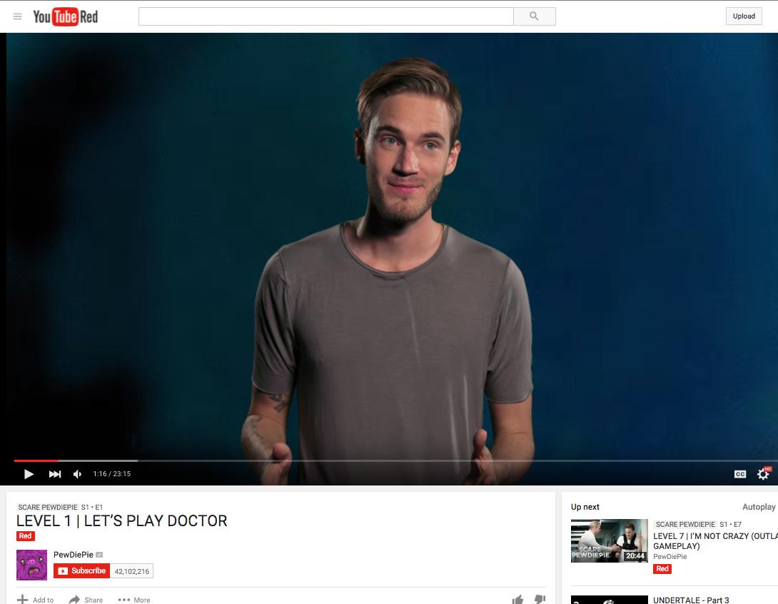 internet pewdiepie videos youtube youtube-red