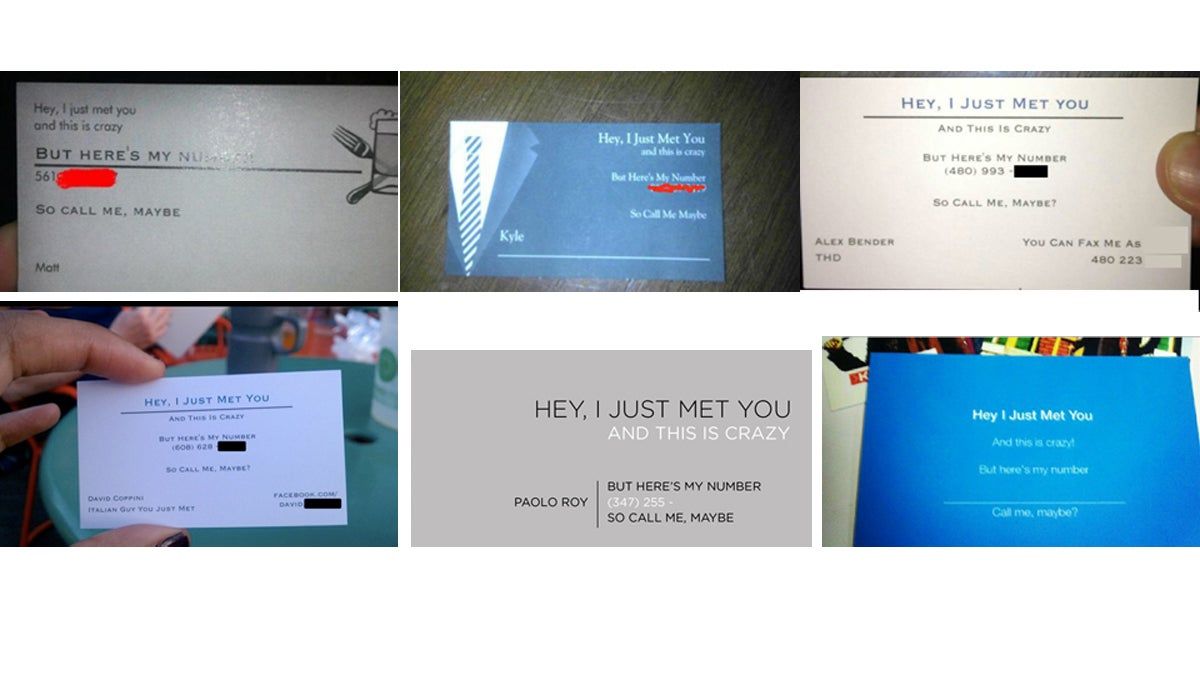 'Call Me Maybe' Business Cards Are the New 'Call Me Maybe'