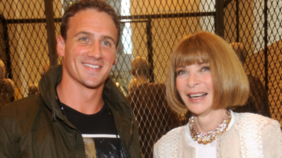 Ryan Lochte Put His Hand On Anna Wintour's Knee