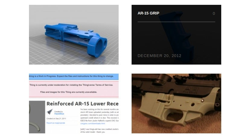 There's a New Site Just for 3D-Printed Gun Designs