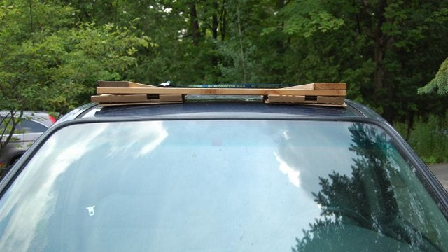 Convert an Automobile Roof Rack to a Building Materials Carrier