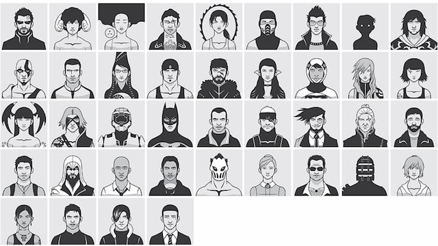 Recognize These Video Game Faces? Here's the Guy Who Drew Them