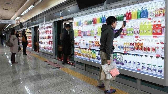 Now you can buy groceries using augmented reality, in South Korean subway stations
