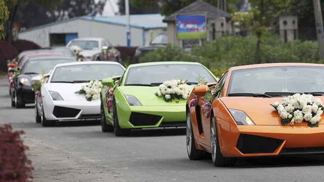 Return of the Chinese supercar wedding