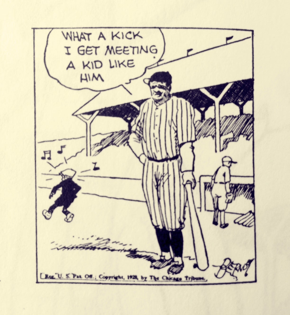 Babe Ruth In The Funny Papers