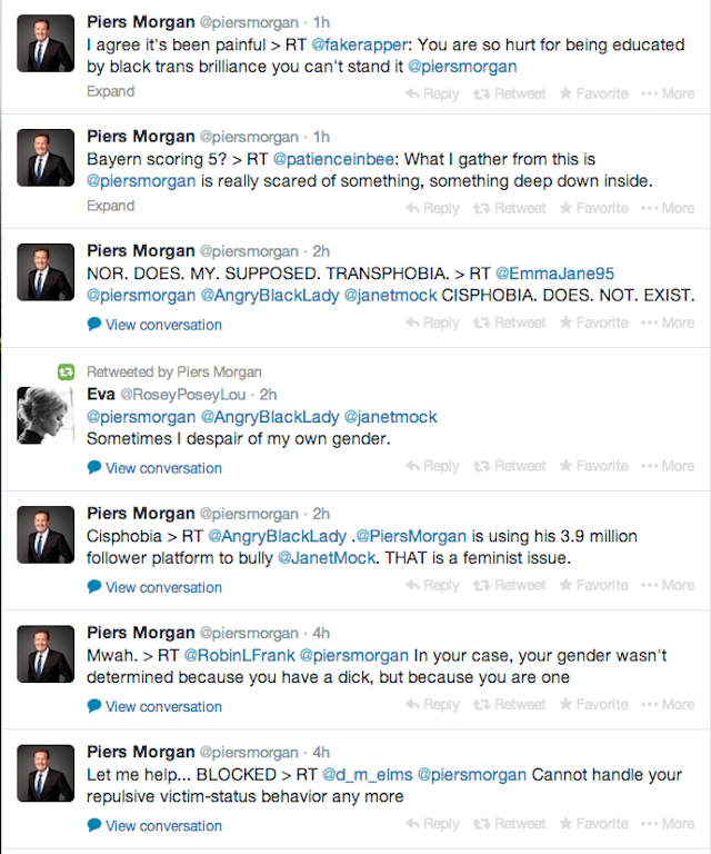 Piers Morgan: OMG Stop With the Trans Stuff