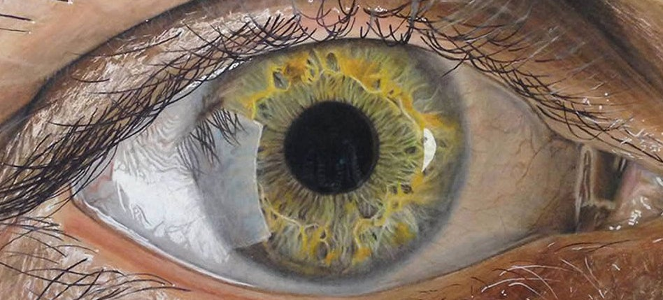 These incredible close-up photos of eyes are actually pencil drawings