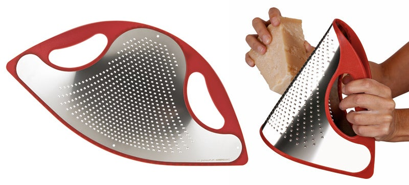 Cleaning This Flexible Metal Grater Looks Super Easy