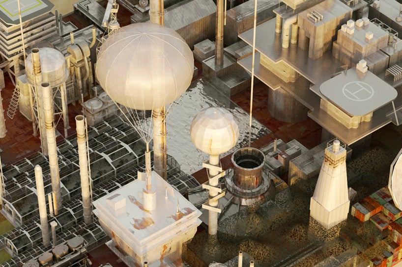 A Gigantic Walking City That Farms the Desert As It Moves