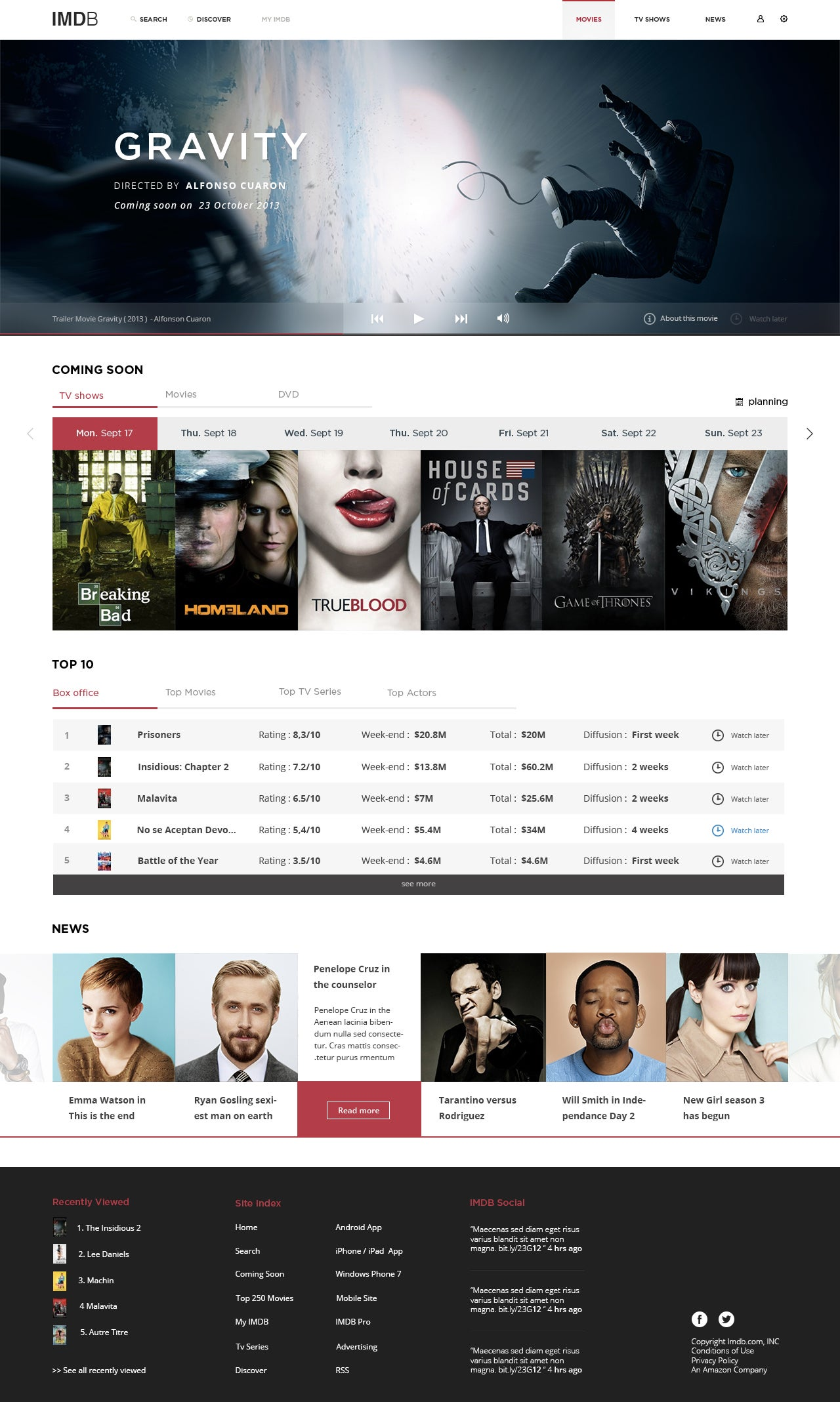 This Beautiful IMDb Redesign Concept Is Long Overdue