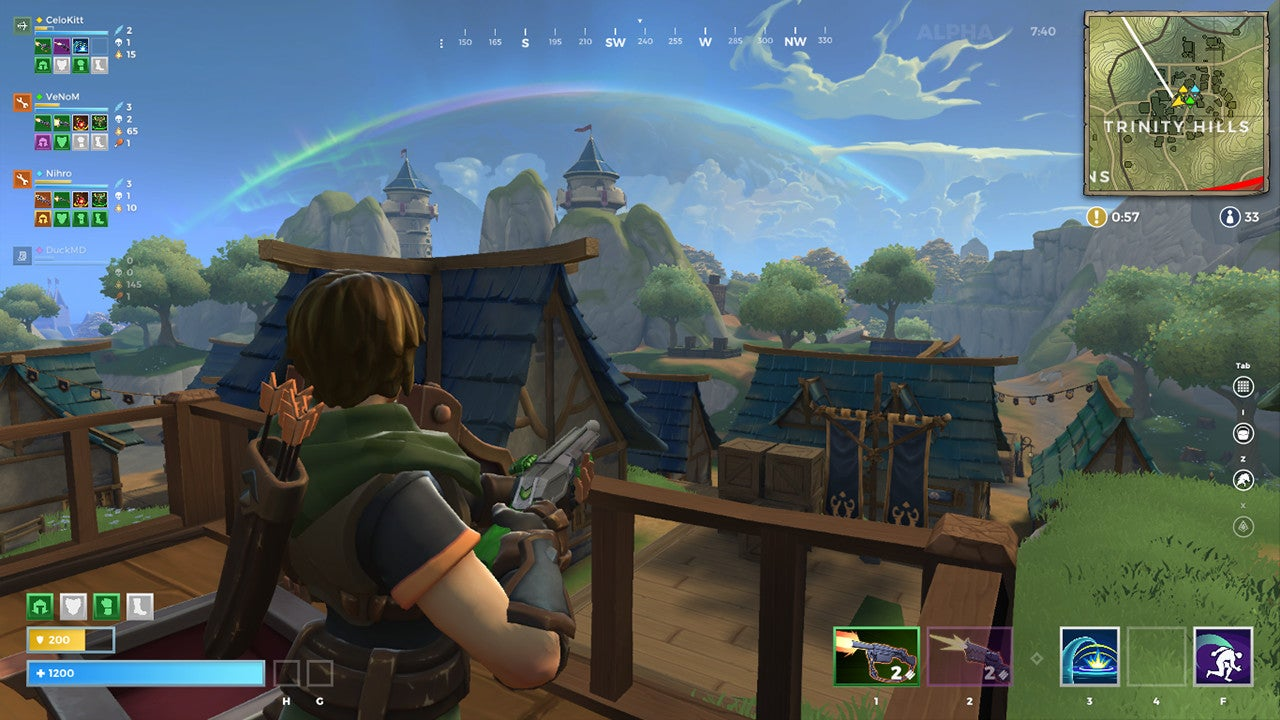 realm royale mixes wizards and warriors with fortnite