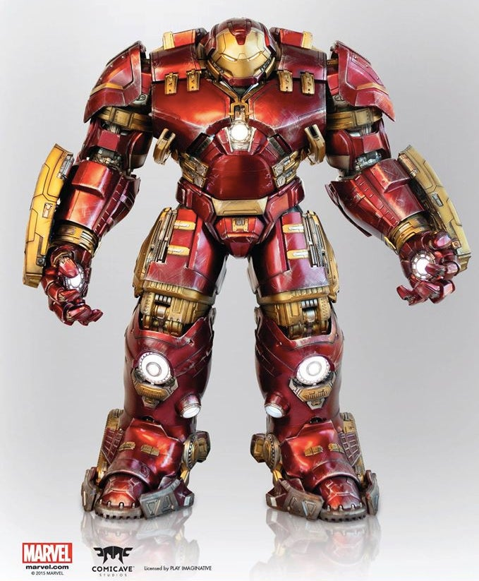 This 1.2m Tall Animated Iron Man Hulkbuster Figure Is A Masterpiece