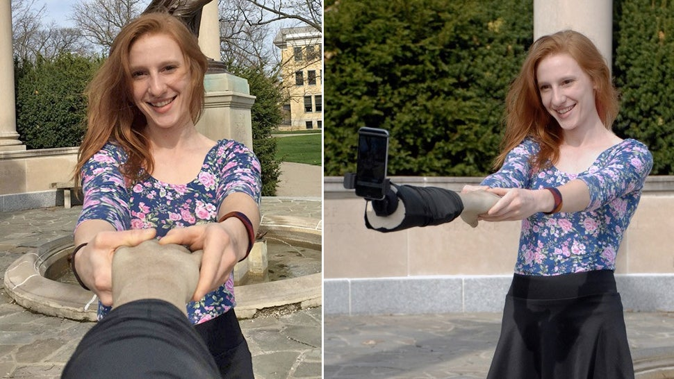 A Fake Arm Selfie Stick Only Makes You Look Less Sad In Photographs