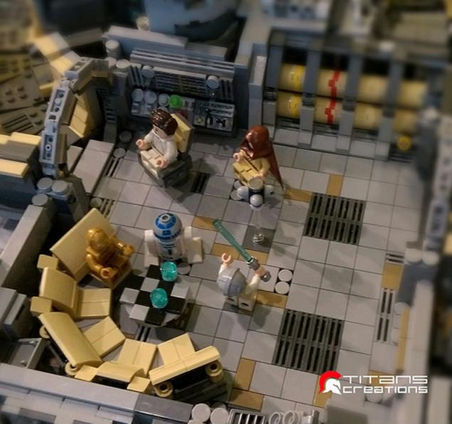 It took 10 000 lego bricks to build the millennium falcon for Interior halcon milenario