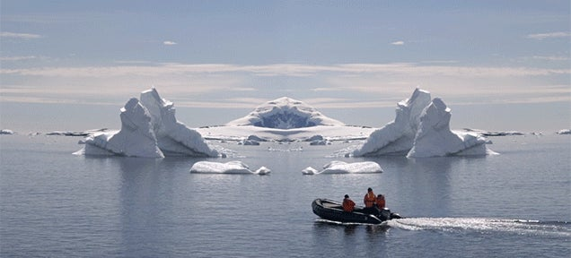 Stunning video of Antarctica creates an unsettling mirrored world