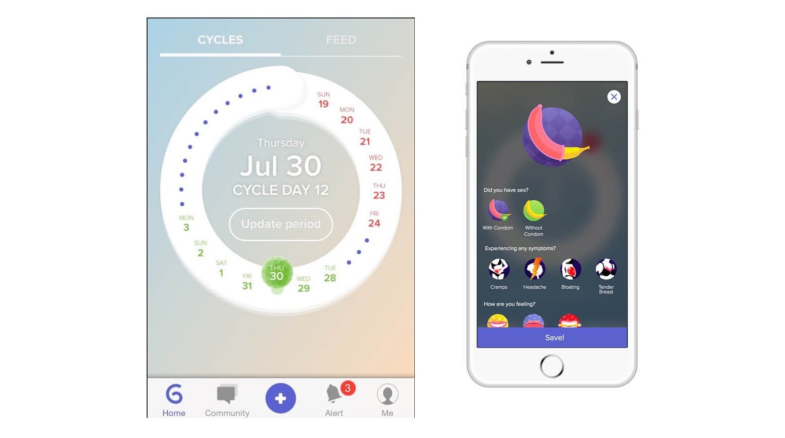 apps ruby glow period ovulation