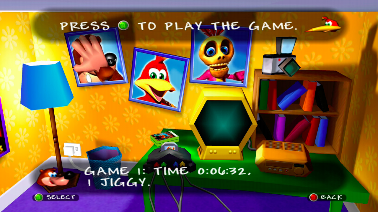 how to make the train move in banjo tooie