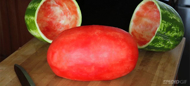 A perfectly skinned watermelon looks so hilariously ridiculous