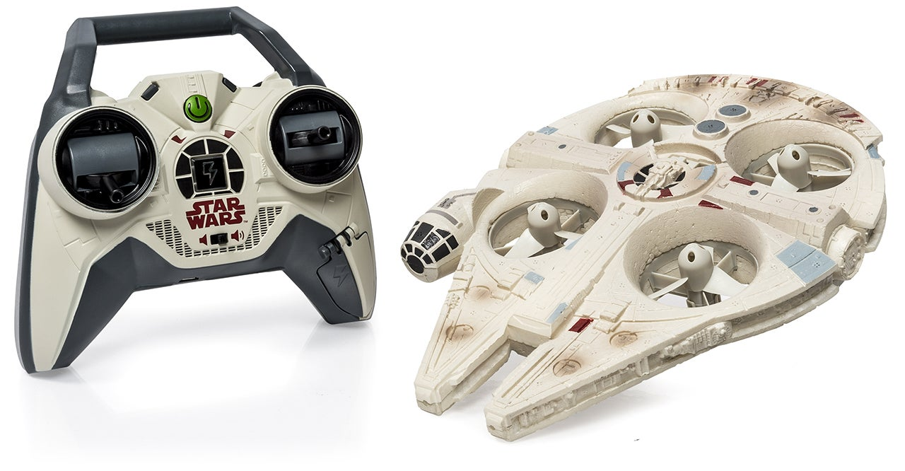 You Can Finally Pilot Your Own Flying Millennium Falcon and X-Wing
