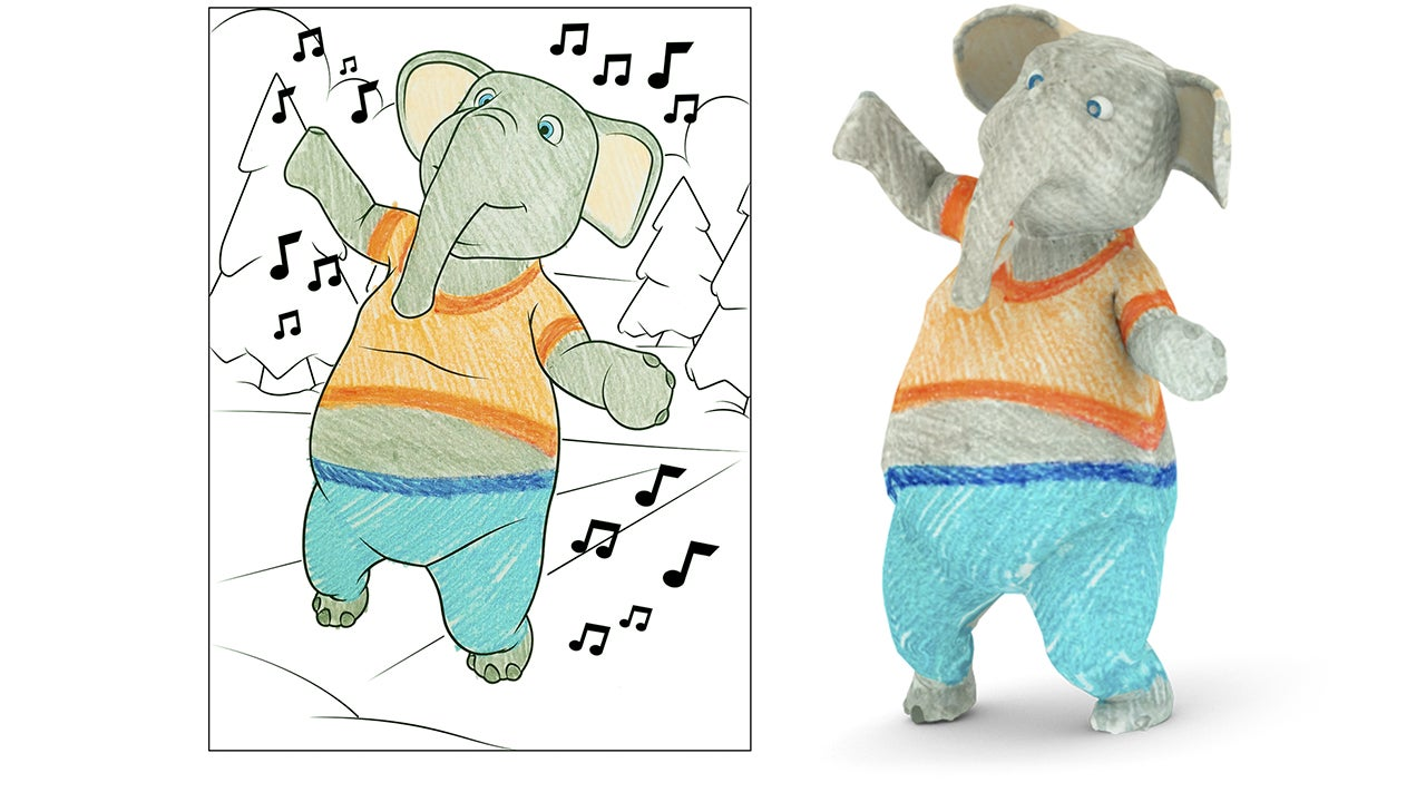 Disney Has Invented 3D Colouring Books