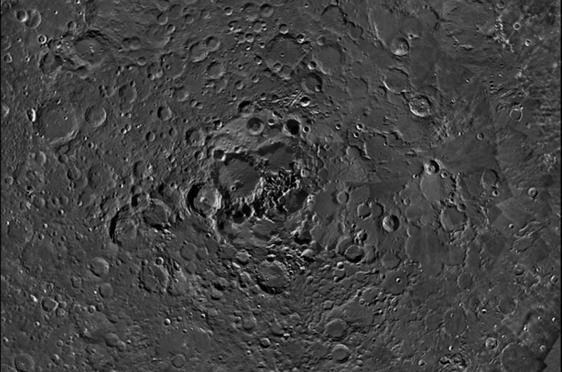 Something Strange Is Going On With The Shadows In This Picture Of The Moon's Pole