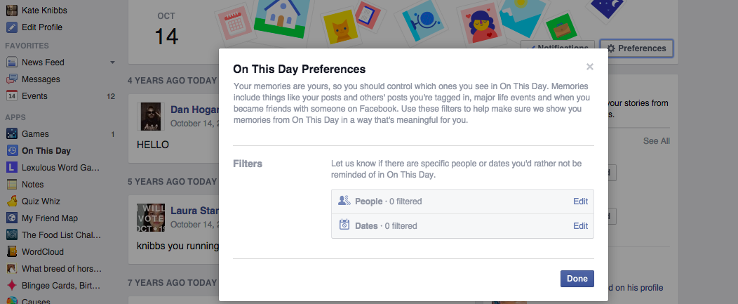 You Can Block Painful Memories From Facebook's 'On This Day' Feature