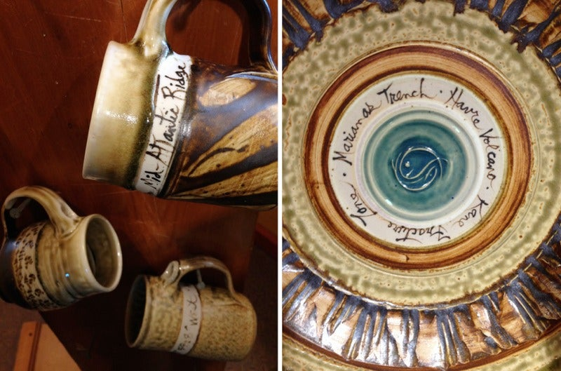 Own A Piece Of The K-T Layer With These Ceramics Glazed With Deep Sea Mud