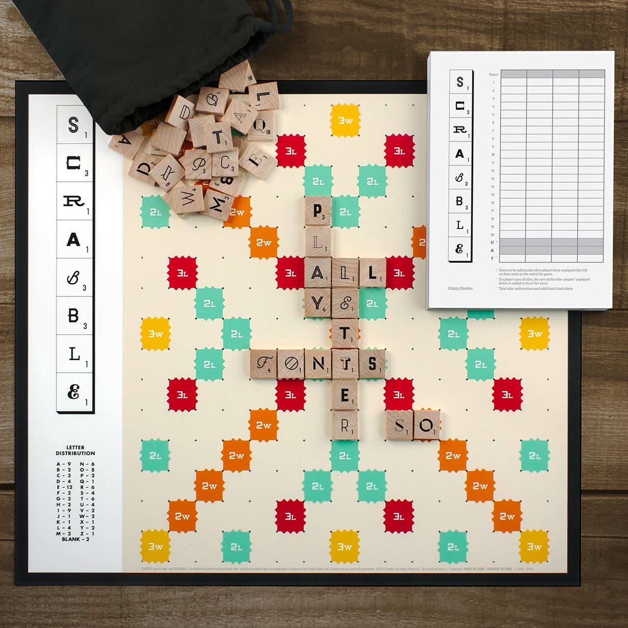 The Third Edition of the World's Most Beautiful Scrabble Game Introduces new Fonts