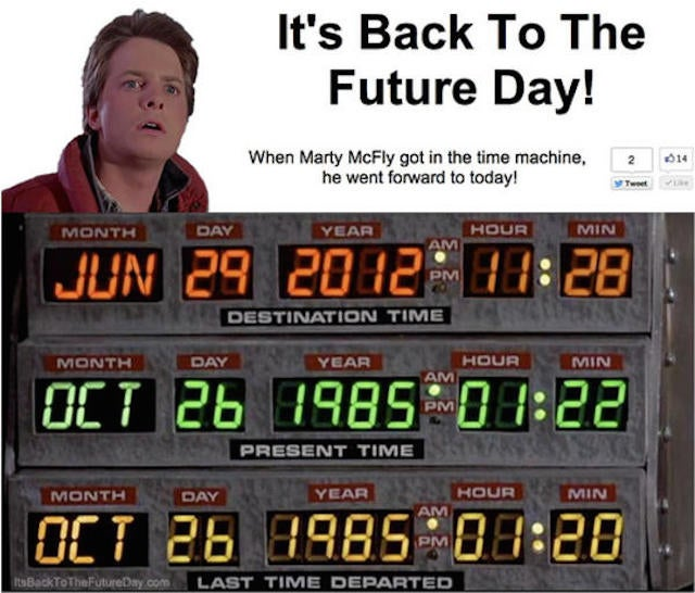 Remember All Those Days Everyone Said It Was The Day FromBack To The Future… That Day Was Yesterday!