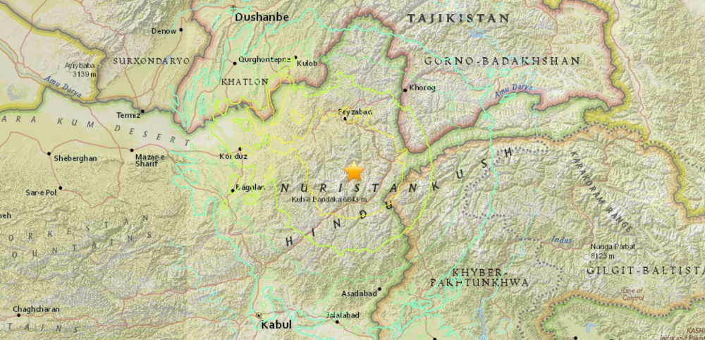 A Huge Earthquake Has Just Hit Northern Afghanistan