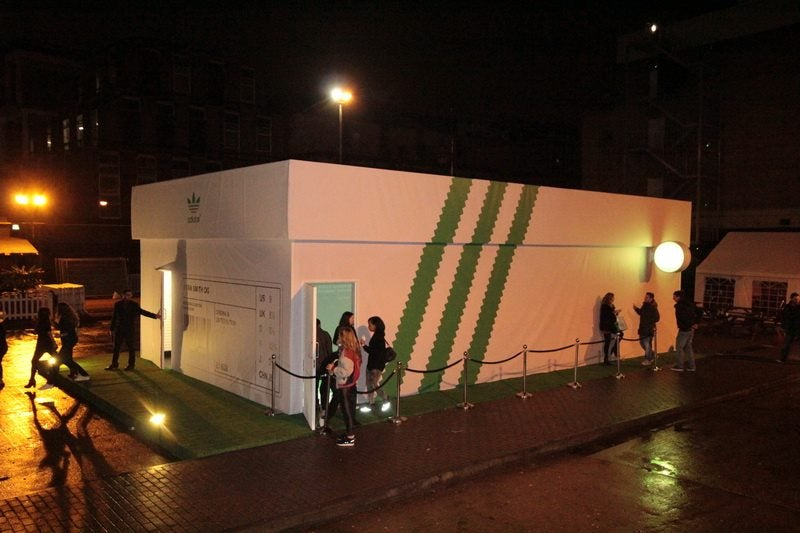 London S Giant Shoebox Is Actually An Adidas Pop Up Shop