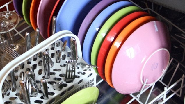 wash baseball caps and thongs in your dishwasher