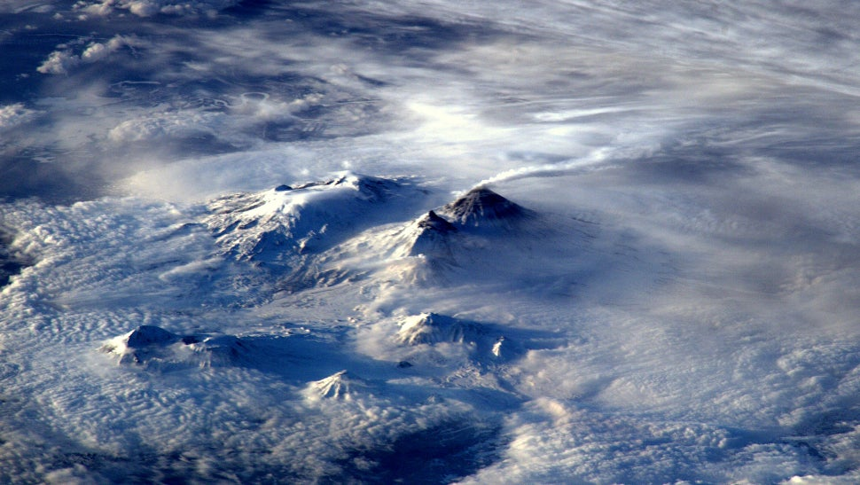 An Erupting Volcano Is Even Cooler When Seen From Space