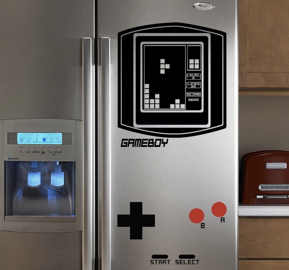 turn your fridge into a giant game boy gizmodo australia. Black Bedroom Furniture Sets. Home Design Ideas