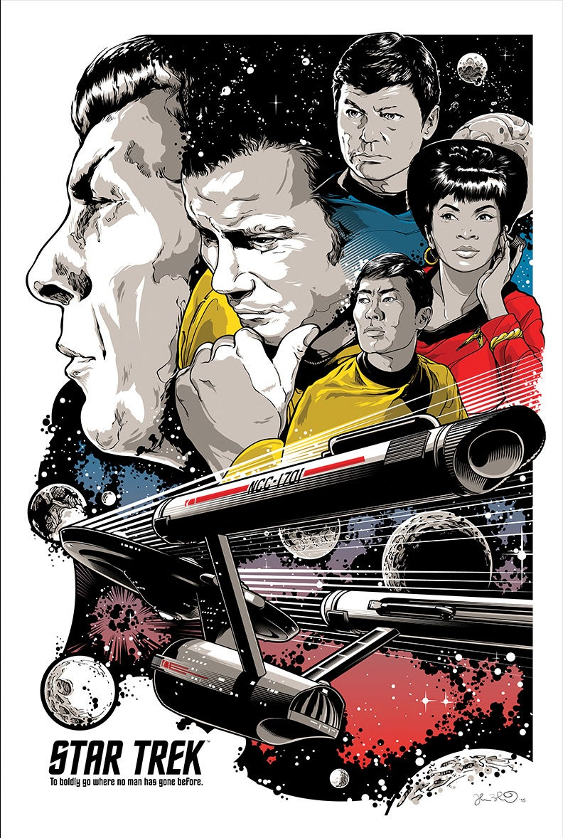 Leonard Nimoy's Final Artwork Is One of 50 Pieces of Star Trek Art Going On Tour
