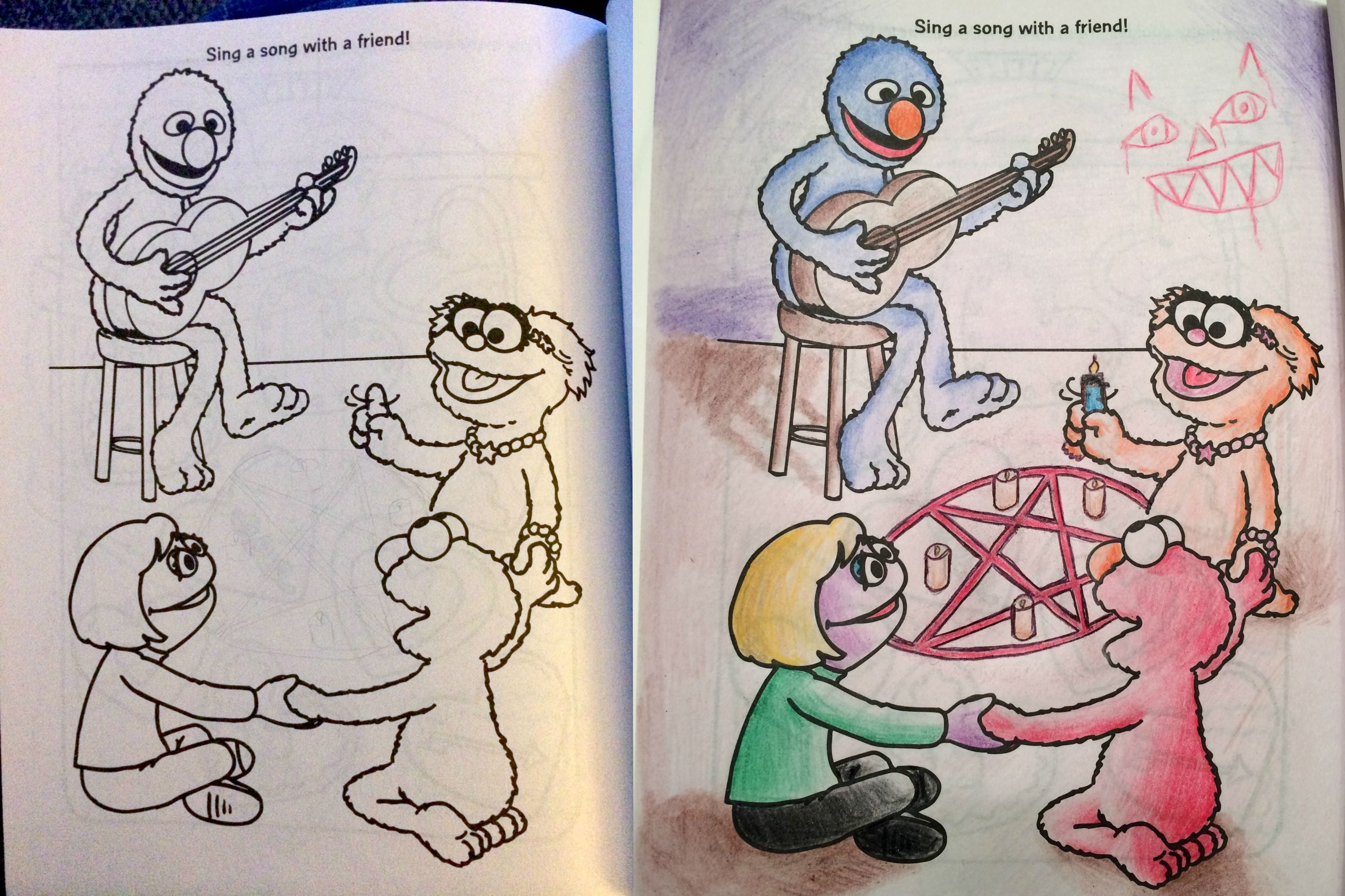 Your Childhood Colouring Books Now With Nightmares