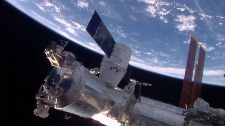 SpaceX's Dragon Capsule Has Arrived At The International Space Station