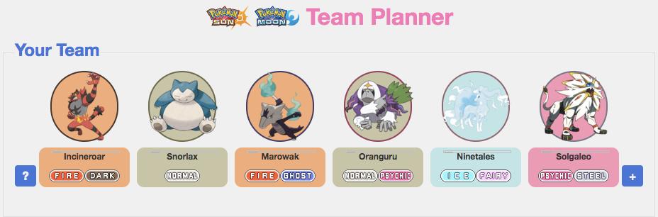 Build The Perfect Team Pokemon