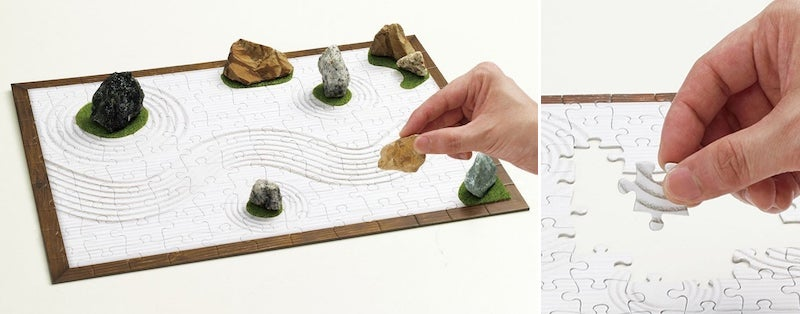 Nothing Could Be More Relaxing Than a Zen Garden Puzzle That Becomes a Zen Garden