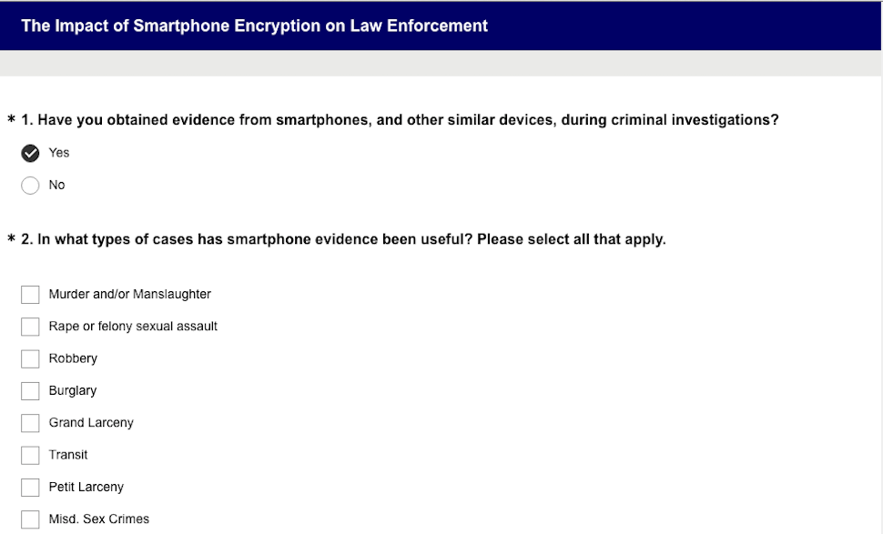 NYC District Attorney Conducts Biased, Unsecured Survey About How Encryption Hurts Police
