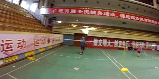 Video: The First Person View of Badminton Is Intense