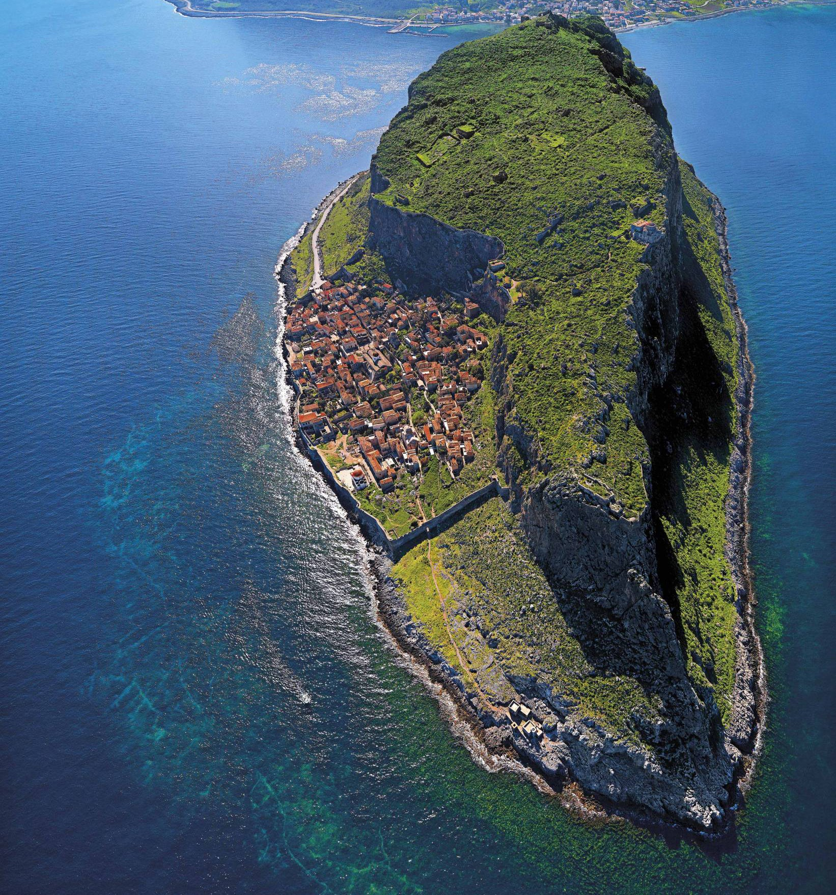 This Greek island is the perfect paradise -- and supervillain hideout