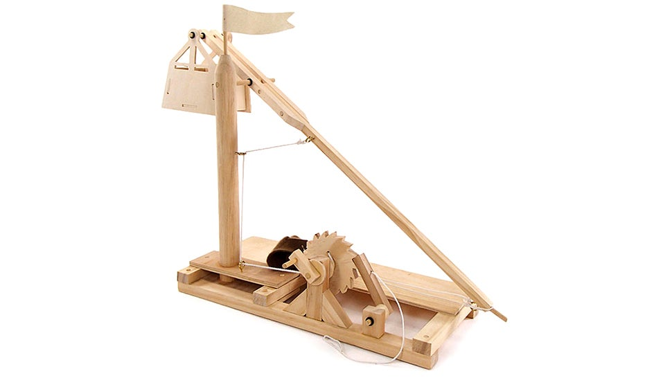 No One Will Steal Your Sticky Notes When Your Desk Is Protected By a Catapult