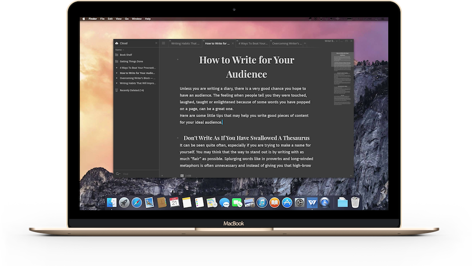 best writing app mac The best writing apps know what to leave behind when switching from a 21-inch-screen to a 97-inch one, and they do it without trampling over any of our individual.
