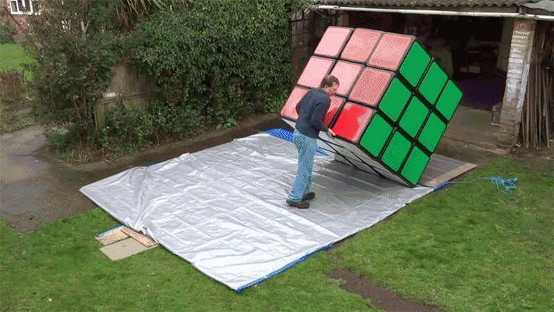 The World's Largest Rubik's Cube Is 10,000X More Frustrating