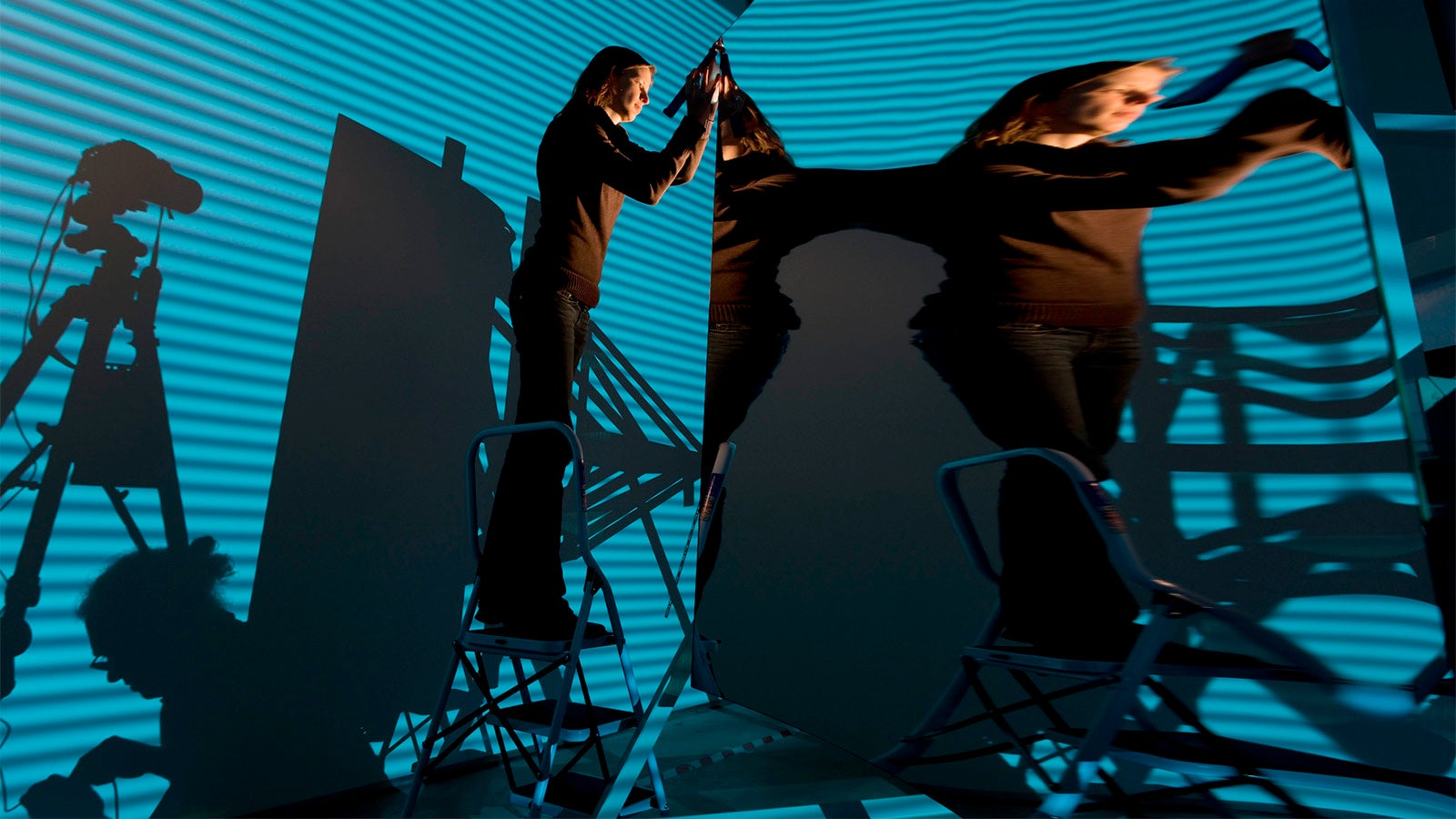 Is This Alice in Mirrorland? Nope, It's How You Test a Solar Mirror
