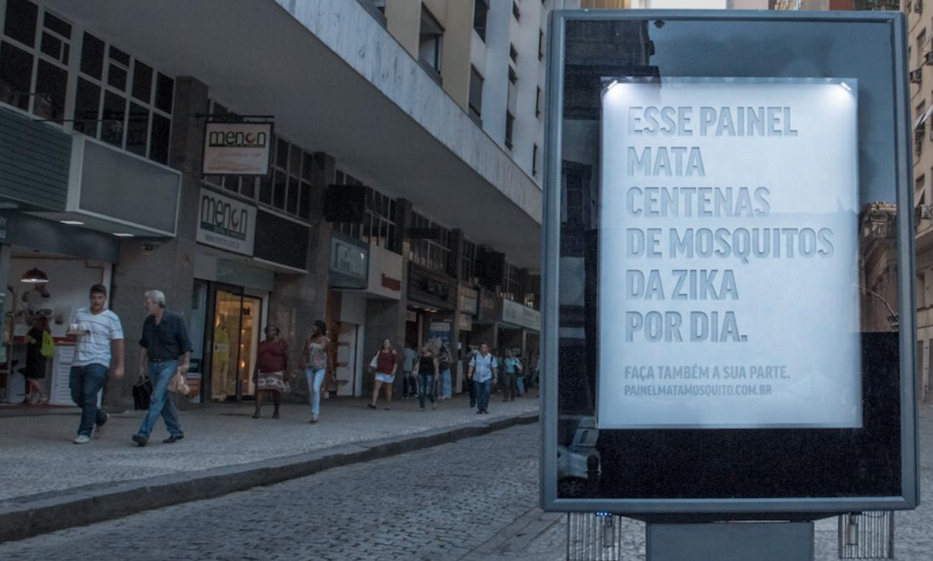 Brazilian Billboard Secretes Fake Sweat To Trap Mosquitoes