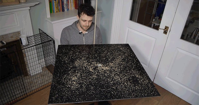 Science Seems Like Magic as This Spilled Couscous Perfectly Organizes Itself