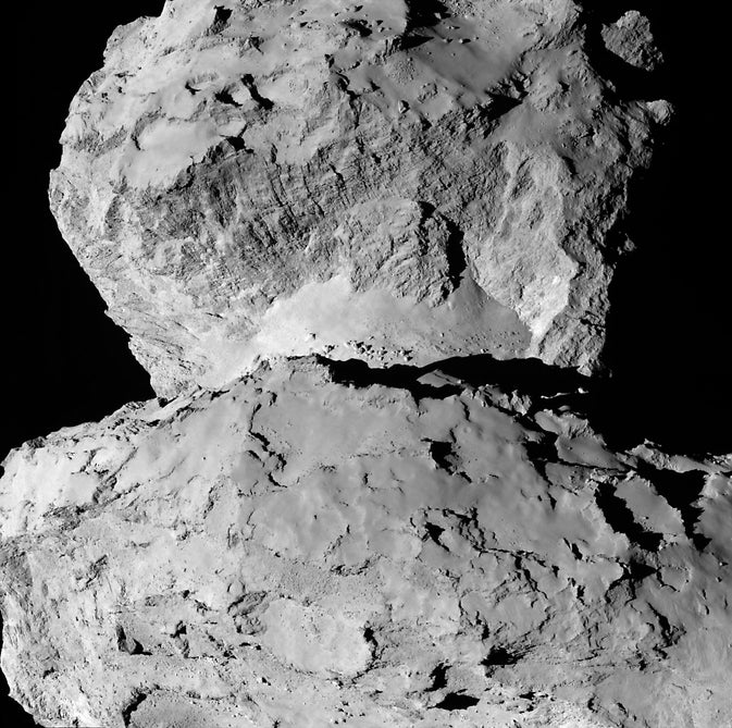 New Comet Photo Shows Fascinating Textures And Landscapes