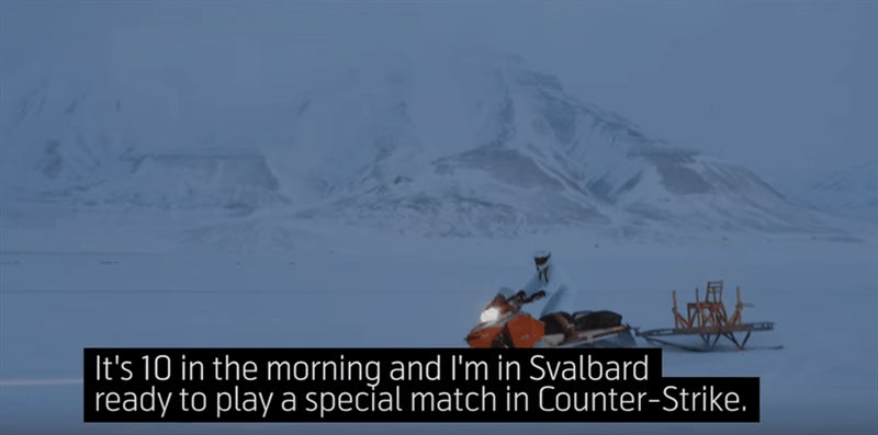 Norwegian Dudes Freeze For Counter-Strike Stunt
